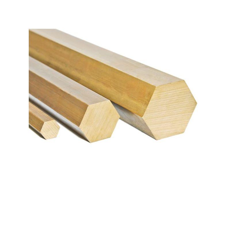 Messing Sechskant Ø9mm 2.0401 CuZn33Pb3 Ms58 Stange 6-kant Sechskantstange,  Messing