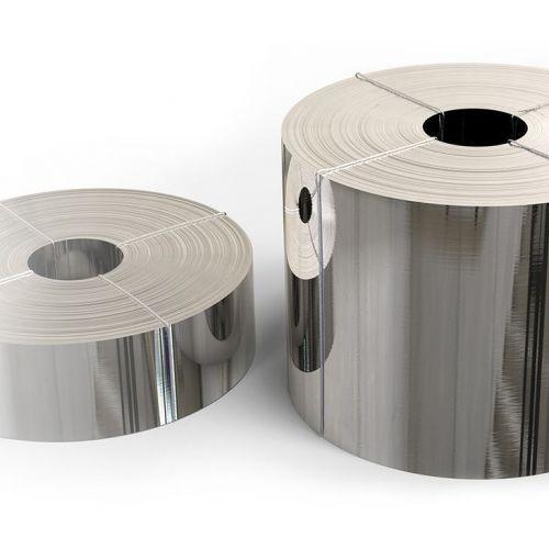 Edelstahl Band 1.4301 Folie 0.05x20mm bis 0.4x200mm V2A 304 Blechband Streifen
