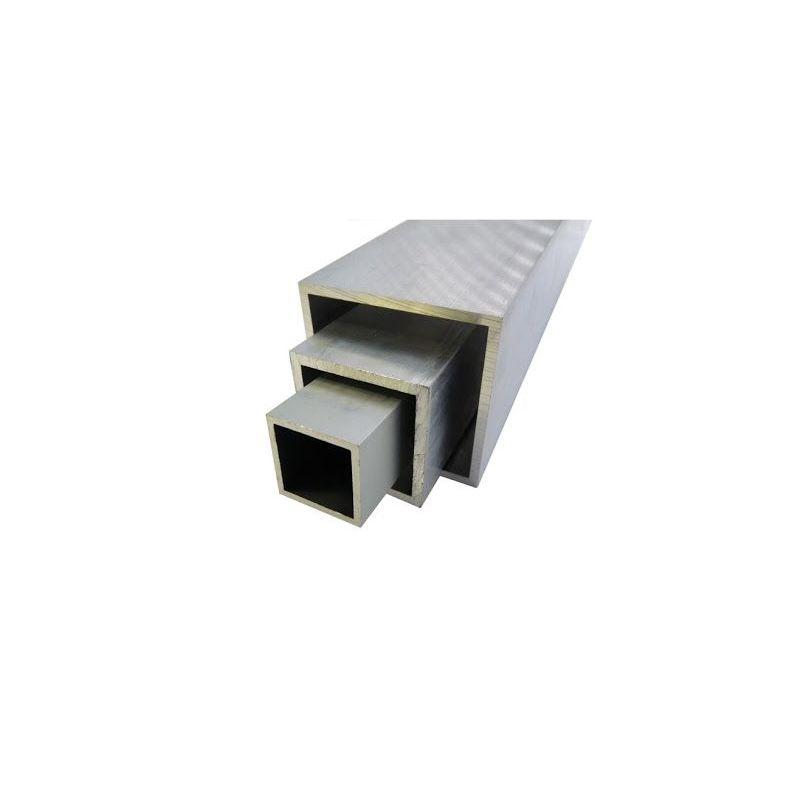 Aluminium Quadratrohr 20x20x2-100x100x4mm AlMgSi0.5 Vierkantrohr 0.2-2 Meter